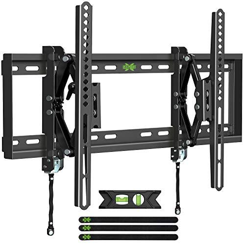 "USX MOUNT Tilting TV Mount, Advanced Full Tilt TV Wall Mount Arm Extension to 7.16"" for Most 42""-70"" Flat TVs, 15° Tilt TV Bracket fit 16""-24"" Stud, Max VESA 600x400mm and up to 100lbs"