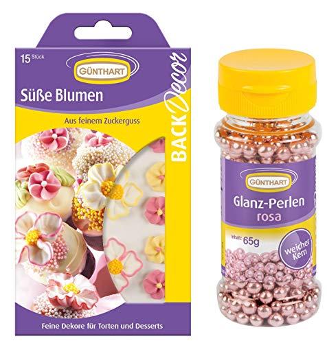 Günthart Tortendeko Blümchen und Prinzessinen- Streusel | Blumendeko | Zuckerblumen | Zuckerperlen