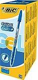 BIC Cristal Gel+ bolígrafos punta media (0,7 mm), caja de 20 unidades, color azul – bolígrafos tinta en gel para escritura suave