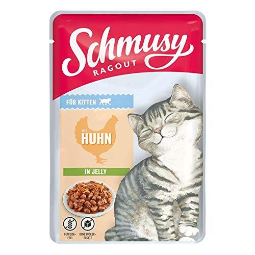 Schmusy Ragout Kitten mit Huhn in Jelly 100g (Menge: 22 je Bestelleinheit)