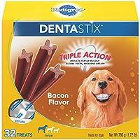 PEDIGREE DENTASTIX Large Dog Chew Treats, Bacon, 32 Treats by Pedigree