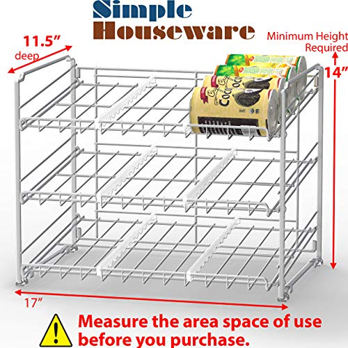 SimpleHouseware Stackable Can Rack Organizer, Chrome Indiana
