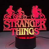Tatapai Lámpara de ilusión 3D LED nocturna expertos, kits de interés de la serie de televisión americana Web-Tv 7, cambio de colores