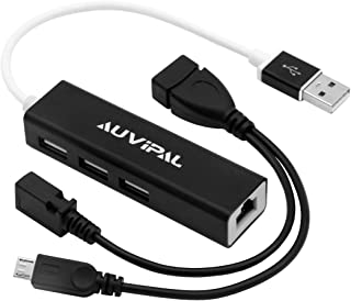 AuviPal - Adattatore LAN Ethernet con 3 porte USB Hub per Streaming TV Stick, Chromecast, Google Home Mini, Raspberry Pi Z...