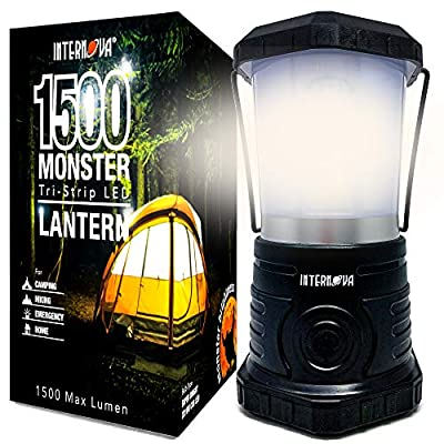 Internova Monster LED Camping Lantern - Battery Powered - Massive Brightness - Perfect for Hurricane - Camp - Emergency Kit