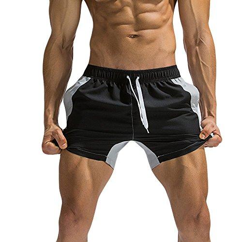 Amphia - Herren Strandhosen/Lace Up Hosen/Stitching Shorts - Männer Breathable Badehose Hosen Badebekleidung Strand Shorts Slim Wear Color Stitching