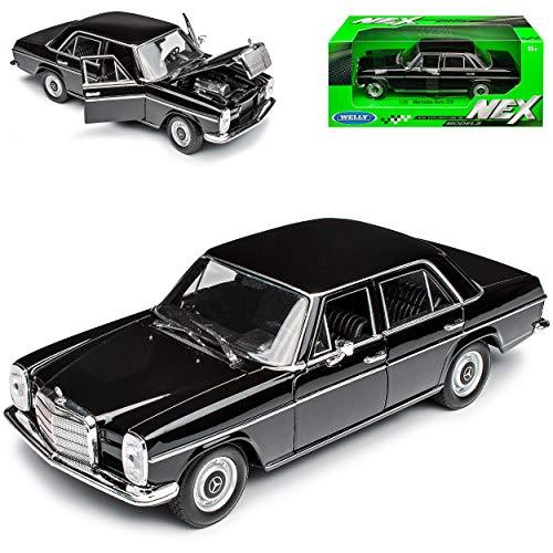 Mercedes-Benz 220 /8 Strich Acht Limousine Schwarz W114 W115 1967-1976 1/24 Welly Modell Auto