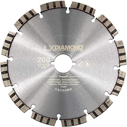 LXDIAMOND Diamant-Trennscheibe 200mm Premium Diamantscheibe Beton Mauerwerk Stein passend für Lamello Tanga DX200 Fensterfräse Montagefräse 200 mm
