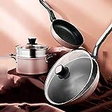 YZ-YUAN Juego de Utensilios de Cocina antiadherentes para el hogar, Juego de ollas y sartenes Simply, Juego de Utensilios de Cocina de inducción de 4 Piezas para Restaurante en casa