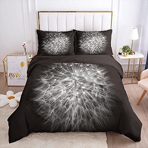 Sängkläder påslakan Konst maskros landskap3 ST MED Kuddfodral Täckeöverdrag Dubbel Ultramjukt Anti Allergiskt Strykjärn Lyxig Mikrofiber Dubbel 135x200cm