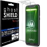 TECHGEAR [3 Piezas Protector de Pantalla Compatible con Motorola Moto G7 Play [ghostSHIELD] Reforzada Flexible TPU Protector de Pantalla con Cobertura de Pantalla Completa inclusiva Pantalla Curva