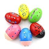 TOOGOO Set de 6 percusion de madera Huevo musical Maracas Egg Shakers para ninos...