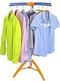 Made for us Bügelwäscheständer Wäschetrockner Wäscheständer Garderobenständer Kleiderständer mit 3 ausklapparen Kleiderhaken für 36 Bügel Blusen oder Hemden