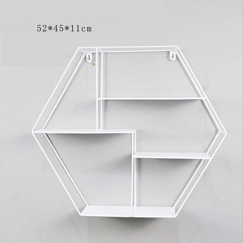DYR Shelving Shelves Decorative Shelf Cafe Bar Decoration Shelf for Bedroom, Living Room, Bathroom, Kitchen, Office White