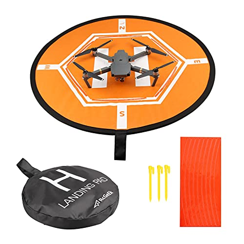 RUIZHI Drone Landing Pad, Universal Waterproof Impermeable Helicoptero Plegable Portátil Landig Mat para RC Drones Helicopter, PVB Drones, dji Mavic Pro Phantom 2/3/4 Pro (80mm)