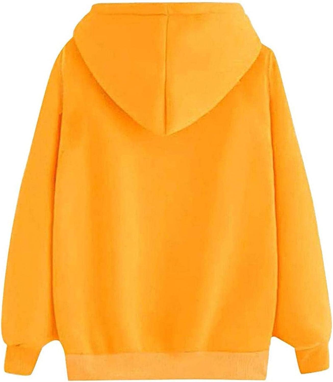 Sweatshirt for Womens, Womens Sweatshirt Casual Long Sleeve Solid Pocket Loose Pullover Tops Heartbeat Hoodies