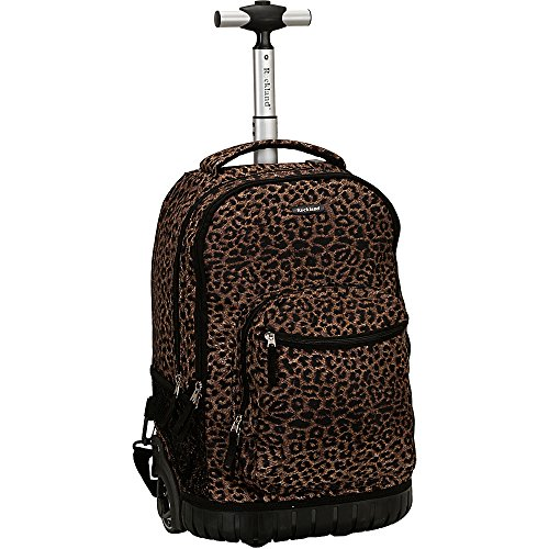Rockland Luggage 19 Inch Rolling Backpack Printed, Leopard