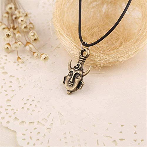 WLHLFL Necklace Supernatal Samulet Necklace Dean Amulet Bull Horn Pagan Buddha Pendant Vintage Jewelry Pendant Necklace Girls Boys Gift