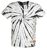 R.E.D. by EMP Red X CHIEMSEE - weiß/Schwarzes Batik T-Shirt Hombre Camiseta Blanco-Negro S