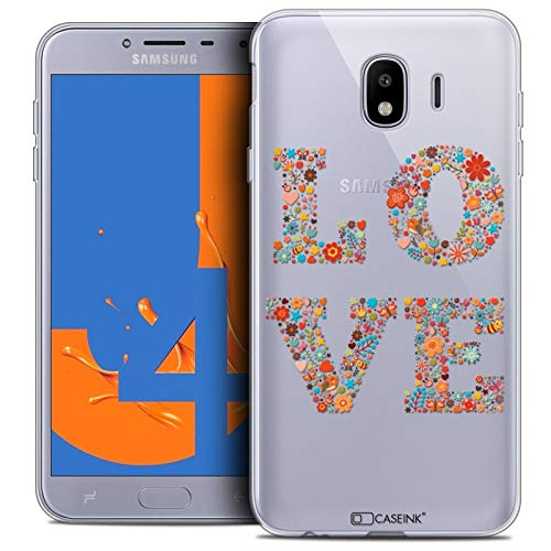 Ultra Slim Summer Love Flowers Case for 5.5-Inch Samsung Galaxy J4 2018