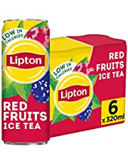 Lipton Ice Tea Red Fruits, Non-carbonated Iced Tea Drink, Cans, 6 x 320 ml