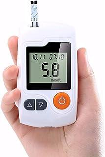 Dytxe-shelf Medidor De Glucosa En Sangre,Kit De Control De Diabetes Kit De Prueba De Azúcar En Sangre con 1 Medidor De Glucosa Y 50 Tiras Reactivas De Glucosa
