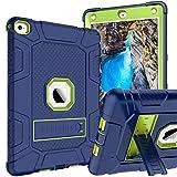 KANGYA iPad Air 2 Case, Kickstand Shockproof Triple-Layer Rugged Hybrid Shock Resistant Heavy