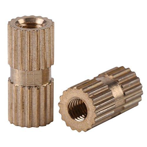 150 Stücke M3 3 * 4 * 5 * 6 * 8 * 10 * 12mm Gewinde Muttern Sortiment Kit Messing Gewinde Rundeinsatz Eingebettete Muttern mit Kunststoff-Box