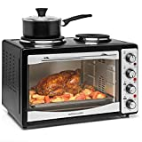 Andrew James Mini Oven with Hob | Electric Mini Cooker with Double Hot