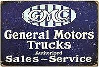 ゼネラルモーターズトラックブリキサイン壁の装飾金属ポスターレトロプラーク警告サインオフィスカフェクラブバーの工芸品