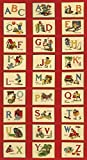 Moda Alphabet-Panel – ABC-Panel im Vintage-Stil –