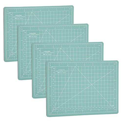 Tapis auto-cicatrisant vert menthe, tapis de coupe en papier A5 4Pcs, pour Scrapbooking, courtepointe, tissu, planche à découper de projets d
