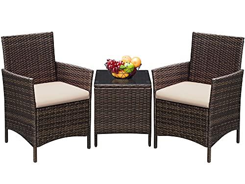 Greesum GS-3RCS8BG 3 Pieces Outdoor Patio Furniture Sets,...