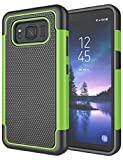 Jeylly Case Compatible for Galaxy S8 Active Case, Heavy Duty [Dual Layer] Hybrid Shock Proof Protective Rugged Bumper Case for Samsung Galaxy S8 Active Case - [Not for Galaxy S8 Edge/Galaxy S8] - Gray