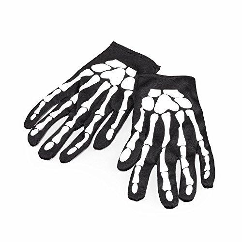 Bristol Novelty BA101 Skelett Handschuhe, Weiß, Unisex– Erwachsene, 9-Inch