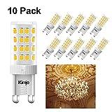 Ampoules LED G9 Kimjo, 5W Blanc Chaud 2800K Équivalent 40W Halogène Lumière 400LM...