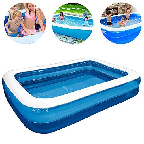 HAIHF Rectangular Pool - Kinder Aufstellpool - Planschbecken - 262 x 175 x 50 cm - Family Pool Schwimmbecken Rechteckig Swimmingpool Babypool, für Alter 3+