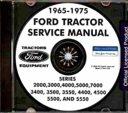 FULLY ILLUSTRATED 1965 1966 1967 1968 1969 1970 1971 1972 1973 1974 1975 FORD TRACTOR REPAIR SHOP MANUAL CD SERIES 2000, 3000, 4000, 5000, 7000