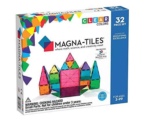 MAGNA-TILES MT-VL02132 - Set de 32 piezas de construcción magnética