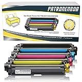 4er Pack Patronenbob® XL Toner kompatibel zu Brother TN-242 TN-246 für Brother HL-3142 CW HL-3152 HL-3172 DCP-9017 CDW DCP-9022 MFC-9142 CDN MFC-9332 /9342 black 2.500 Seiten, Color je 2.200 Seiten