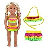 Miunana Sommer Kleidung Kleider Badeanzug Bikini Puppen für 46-50cm Puppen Stehpuppe 18 Zoll Inch...