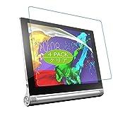 VacFun 4 Piezas HD Claro Protector de Pantalla para Lenovo Yoga Tablet 2 10 1050F 10.1', Screen Protector Sin Burbujas Película Protectora (Not Cristal Templado)