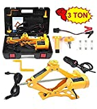 VOLTZ TY42 Electric Car Floor 3 Ton All-in-one Automatic 12V Scissor Lift Jack Set for Sedans SUV with Double Saddles Remote Tire Change Repair Emergency Tool Kits