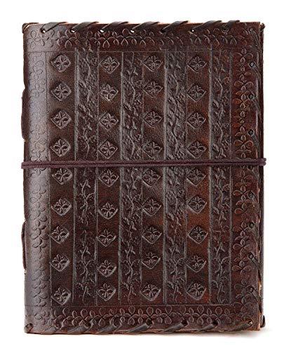 Ausgefallene Geschenkideen: indiary Luxusnotizbuch aus Büffelleder und handgeschöpftem Papier - ART NOUVEAU 2