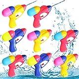8 Piezas Pistola de Agua pequeña,Pistola de Agua Juguete,Pistola de Agua niños Adultos,Pistola de Agua de Verano para Playa,Pistola de Agua (8 Piezas)
