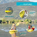 Lifetime 6 Foot Yellow Youth Kayak 13 Ergonomic cockpit design enhances balance and motor skills Molded finger handles on each side of the kayak Reverse chine for enhanced stability with swim-up step