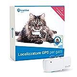 Tractive Localizzatore GPS per gatti, a Portata illimitata, Monitoraggio dell'attività, Impermeabile