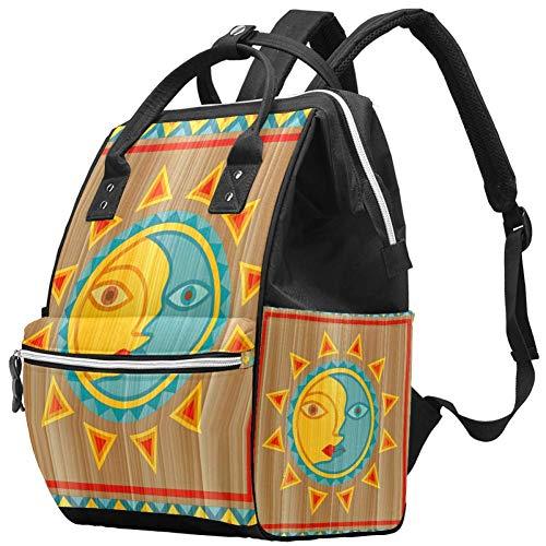 LORVIES - Bolso cambiador de pañales con bolsillos aislados, correas para cochecito, gran capacidad, multifunción, elegante bolsa de pañales para mamá papá al aire libre