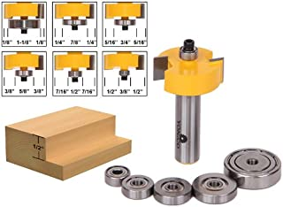 Yonico 14705 1/2-Inch Height with 6 Bearings Rabbet Router Bit & Bearing Set 1/2-Inch Shank