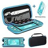 Ztotops Tasche Kompatibel für Nintendo Switch Lite, mit Stauraum für 8 Spiele, Aufbewahrungs Tasche/Hülle/Schutzhülle auf die Reise für Nintendo Switch Lite Konsole & Accesoires -Blau